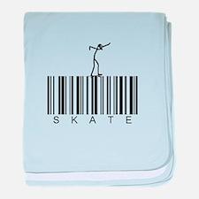 Bar Code Skate baby blanket