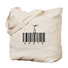 Bar Code Skate Tote Bag