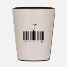 Bar Code Skate Shot Glass