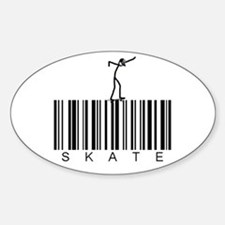 Bar Code Skate Sticker (Oval)