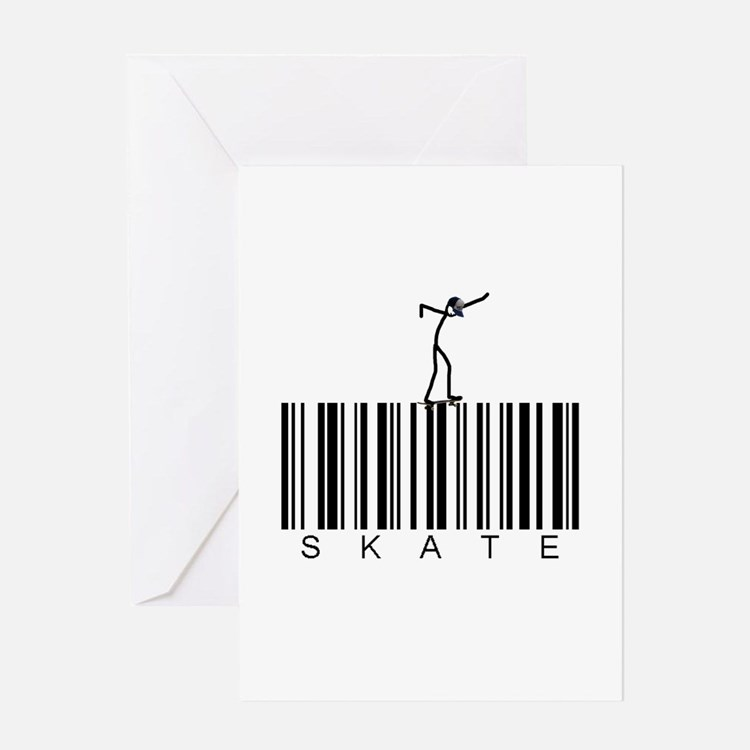 Bar Code Skate Greeting Card
