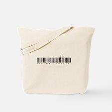 Bar Code WWJD Tote Bag