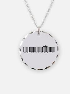 Bar Code WWJD Necklace