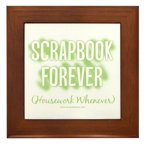Scrapbook Forever - Green Framed Tile