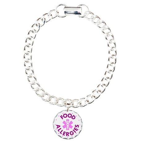 Med Sign (pink) Charm Bracelet, One Charm