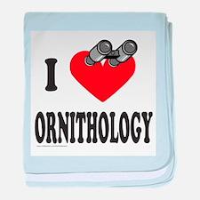 I HEART ORNITHOLOGY baby blanket