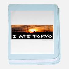 I ATE TOKYO baby blanket