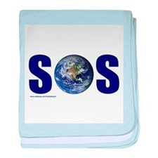 SOS EARTH baby blanket