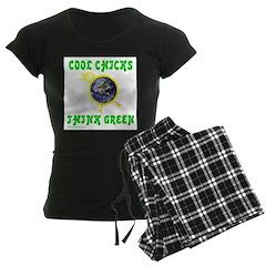 THINK GREEN Women's Dark Pajamas
