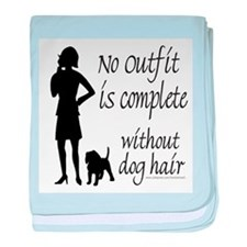 DOG HAIR baby blanket