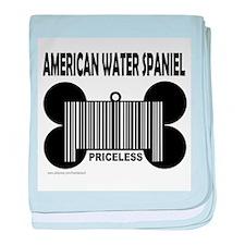 Cute American water spaniel baby blanket