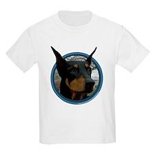 Doberman Art Kids T-Shirt