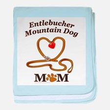 Cute Entlebucher mountain dogs baby blanket