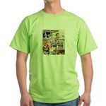 Vintage Collage Art Green T-Shirt