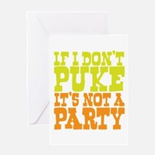 Pukin' Party Greeting Card