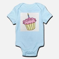 Pink Cupcake Infant Creeper