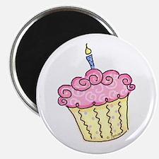 Pink Cupcake Magnet