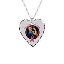 BreastCancer WeCanDoIt Necklace Heart Charm