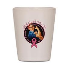 BreastCancer WeCanDoIt Shot Glass