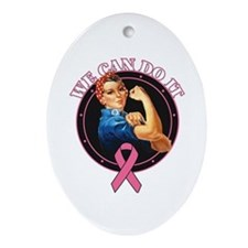 BreastCancer WeCanDoIt Ornament (Oval)