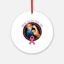 BreastCancer WeCanDoIt Ornament (Round)