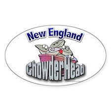 New England Chowderhead... Oval Decal