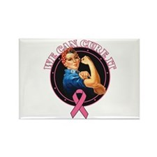 BreastCancer WeCanCureIt Rectangle Magnet