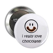 I Really Love Chocolate Button