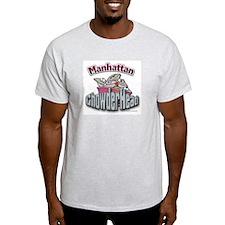 Manhattan Chowderhead... Ash Grey T-Shirt