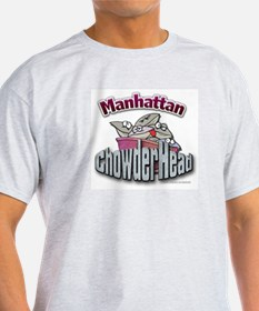 Manhattan Chowderhead... Ash Grey T-Shirt