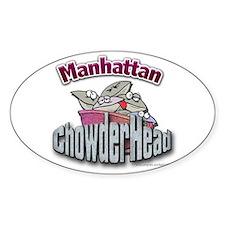 Manhattan Chowderhead... Oval Decal