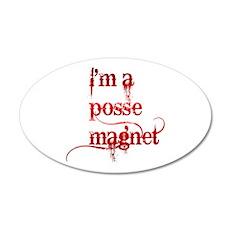 I'm A Posse Magnet 38.5 x 24.5 Oval Wall Peel