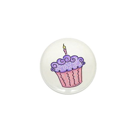 Pink and Purple Cupcake Mini Button (10 pack)