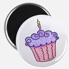 Pink and Purple Cupcake Magnet