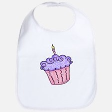 Pink and Purple Cupcake Bib