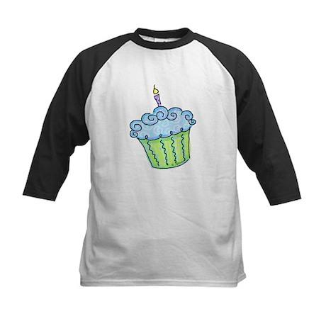 Cute Cupcake (blue) Kids Baseball Jersey