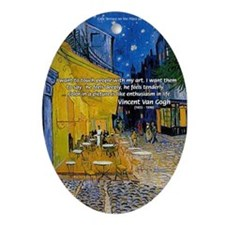 Vincent Van Gogh Color Art Oval Ornament