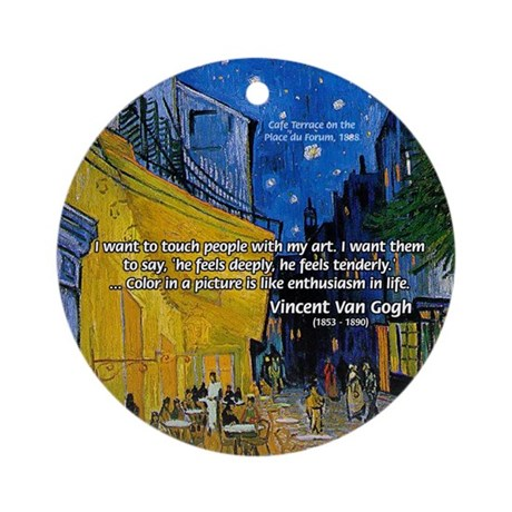 Vincent Van Gogh Color Art Ornament (Round)