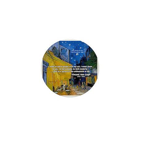 Vincent Van Gogh Color Art Mini Button