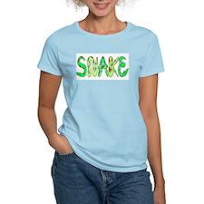 Snake Women's Pink T-Shirt