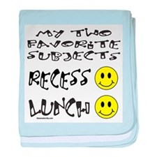 LUNCH AND RECESS baby blanket