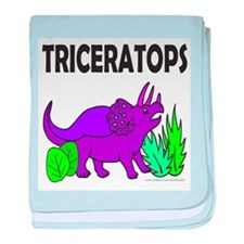 TRICERATOPS baby blanket