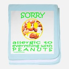 ALLERGIC TO PEANUTS baby blanket