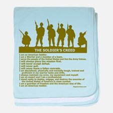 SOLDIER'S CREED baby blanket