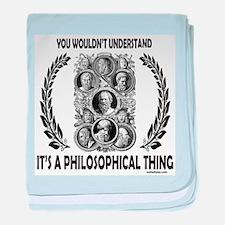 PHILOSOPHY baby blanket