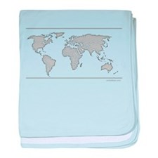 GEOGRAPHY/WORLD MAP baby blanket