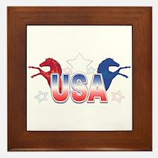 USA Horses Framed Tile