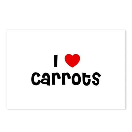 I * Carrots Postcards (Package of 8)