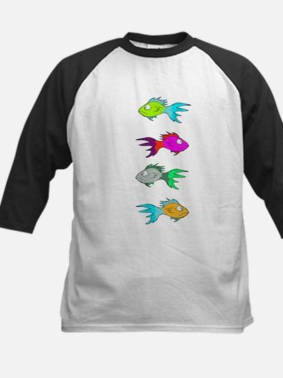 colour fishies Baseball Jersey