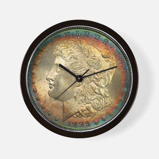 Toned Morgan Dollar Shop Wall Clock